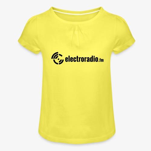 electroradio.fm - Mädchen-T-Shirt mit Raffungen