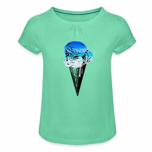 Ice Cream Paradise - Mädchen-T-Shirt mit Raffungen