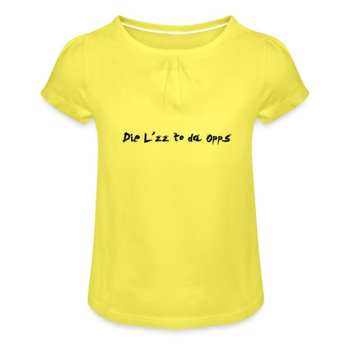 DieL - Pige T-shirt med flæser
