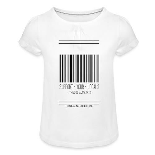 STEUN JE LOKAAL - Meisjes-T-shirt met plooien