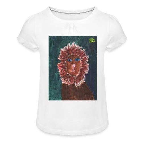 Lion T-Shirt By Isla - Girl's T-Shirt with Ruffles
