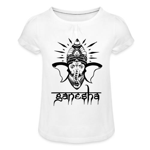 Ganesha - Mädchen-T-Shirt mit Raffungen