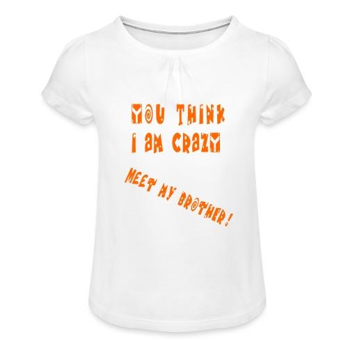 Crazy Brother - Tyttöjen t-paita, jossa rypytyksiä