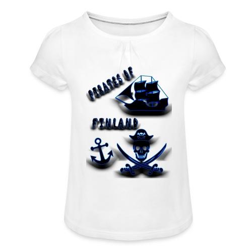 Pirates - Tyttöjen t-paita, jossa rypytyksiä