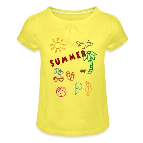 Summer - Tyttöjen t-paita, jossa rypytyksiä