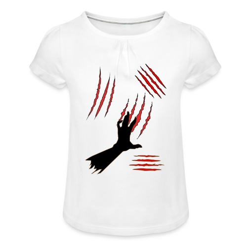 Scratch - Tyttöjen t-paita, jossa rypytyksiä