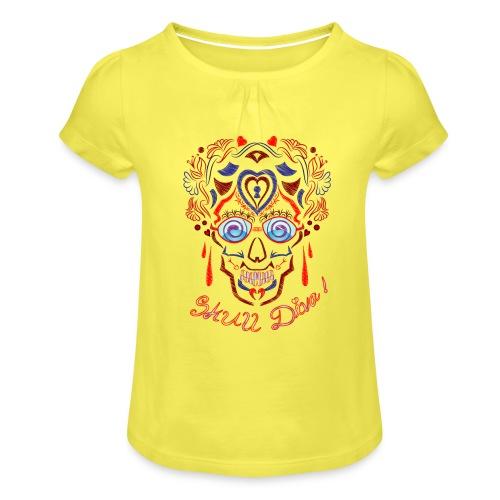 Skull Tattoo Art - Girl's T-Shirt with Ruffles