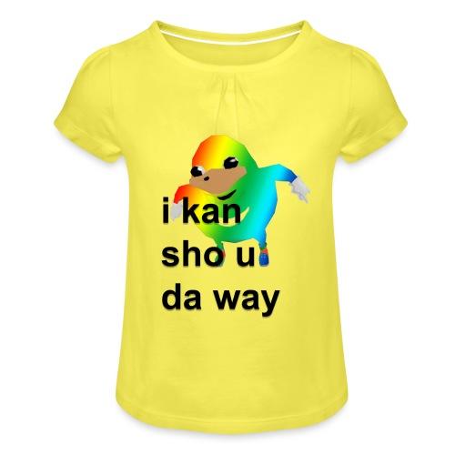 uganda - Tyttöjen t-paita, jossa rypytyksiä