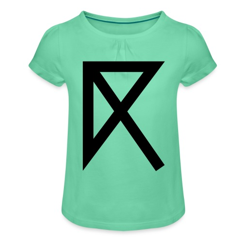 R - Girl's T-Shirt with Ruffles