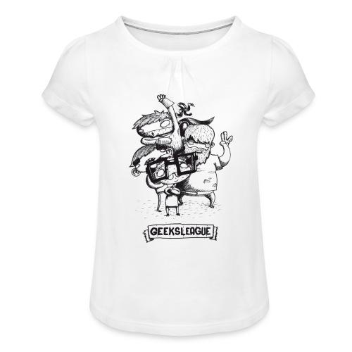Illu Geeksleague - T-shirt à fronces au col Fille