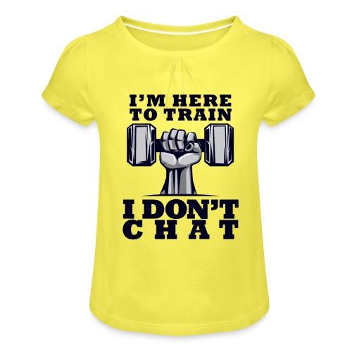 Train Chat - Tyttöjen t-paita, jossa rypytyksiä
