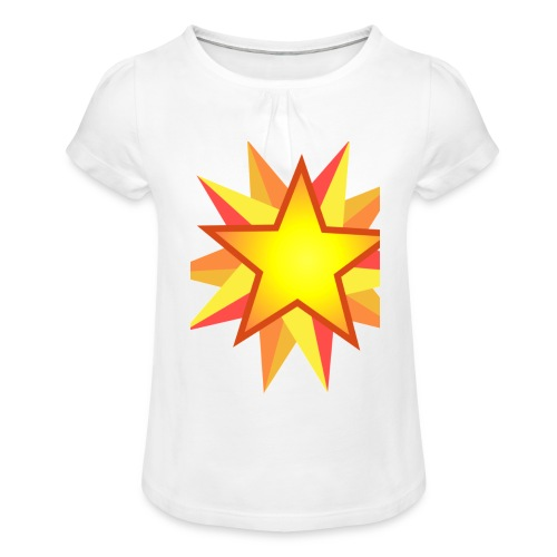 ck star merch - Girl's T-Shirt with Ruffles