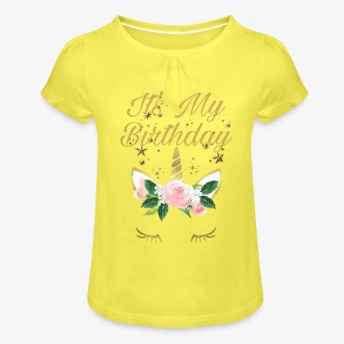 It's My Birthday - Maglietta da ragazza con arricciatura