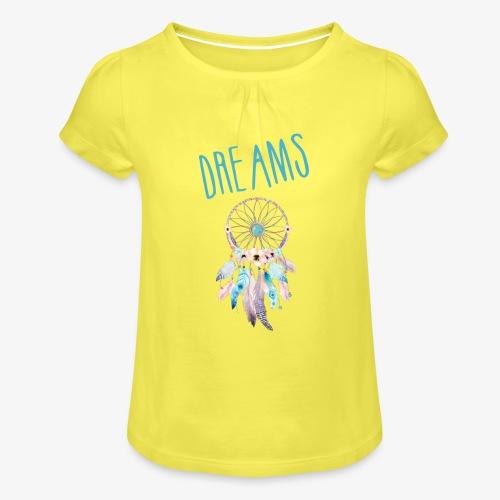 Dreams - Maglietta da ragazza con arricciatura
