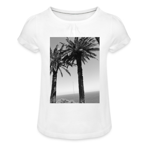 arbre - T-shirt à fronces au col Fille