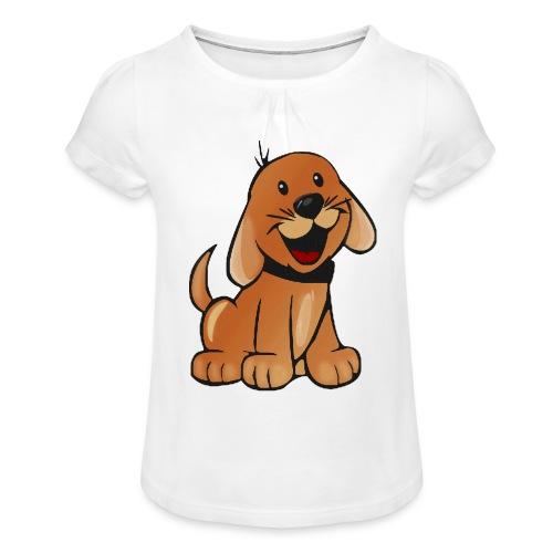 cartoon dog - Maglietta da ragazza con arricciatura