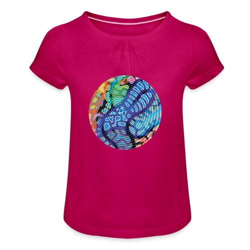 concentric - Girl's T-Shirt with Ruffles
