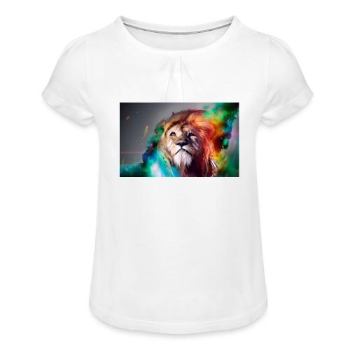 hero lion - T-shirt à fronces au col Fille