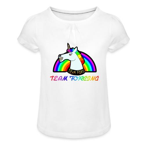 Logo officiel de la team forcing - T-shirt à fronces au col Fille