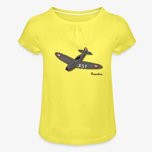 D551 - T-shirt à fronces au col Fille