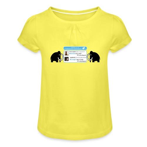 homo-sapiens et néandertal - T-shirt à fronces au col Fille