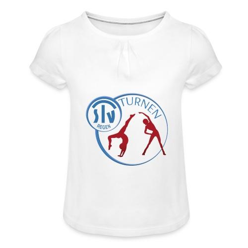 TSV REGEN TURNEN - LOGO - - Mädchen-T-Shirt mit Raffungen