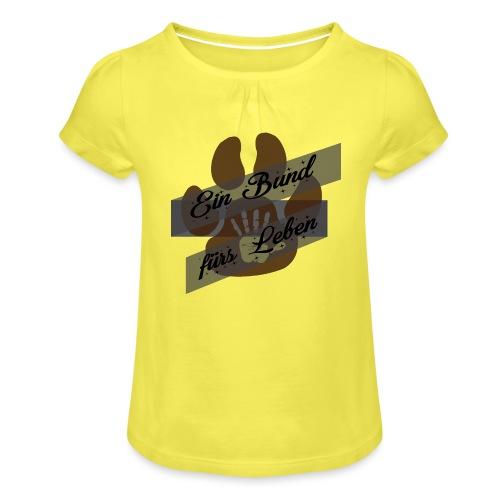 Ein Bund für das Leben Freundschaft für immer - Mädchen-T-Shirt mit Raffungen