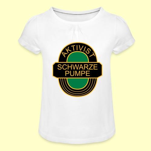 BSG Aktivist Schwarze Pumpe - Mädchen-T-Shirt mit Raffungen
