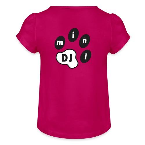 DJMini Logo - Pige T-shirt med flæser