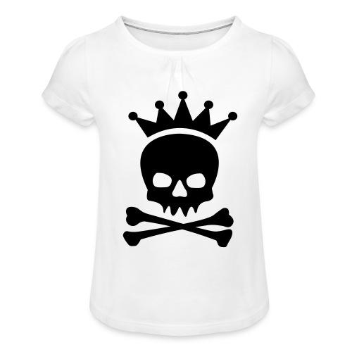 Roi des pirates - T-shirt à fronces au col Fille