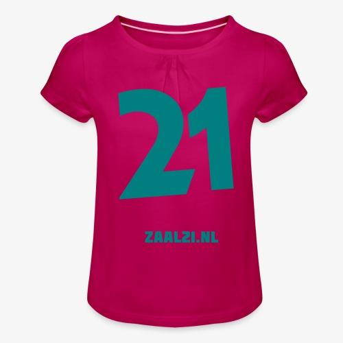 zaal-achterkant - Meisjes-T-shirt met plooien