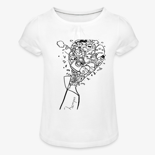shampoo doodles - Girl's T-Shirt with Ruffles