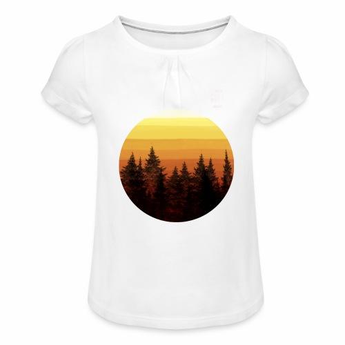 sunset - T-shirt à fronces au col Fille
