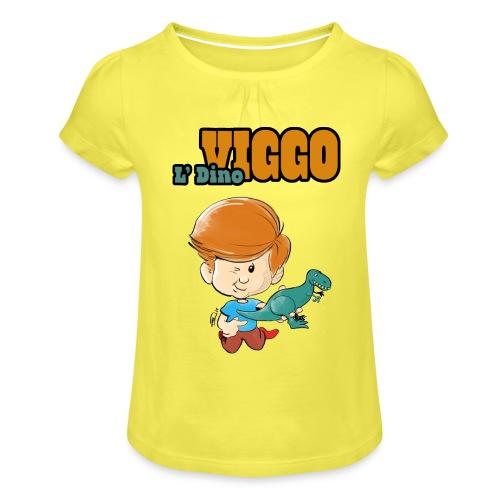 LDinoViggo Logo total - Pige T-shirt med flæser