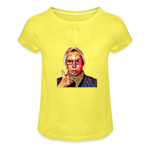 Madam2 - Girl's T-Shirt with Ruffles