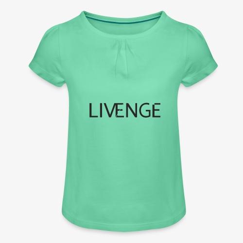 Livenge - Meisjes-T-shirt met plooien