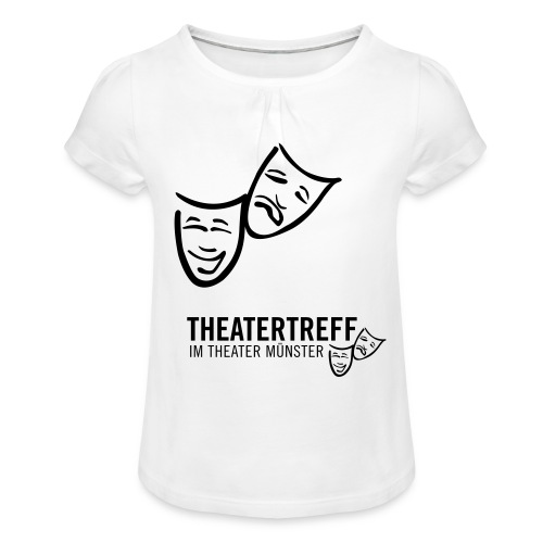 logo_tt - Mädchen-T-Shirt mit Raffungen