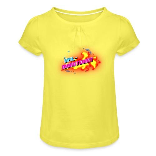 Spilministeriet - Pige T-shirt med flæser