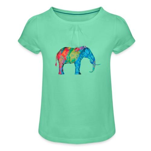 Elefant - Girl's T-Shirt with Ruffles