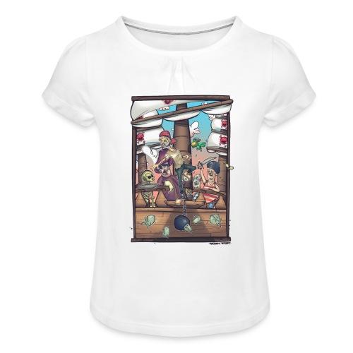 les pirates - T-shirt à fronces au col Fille