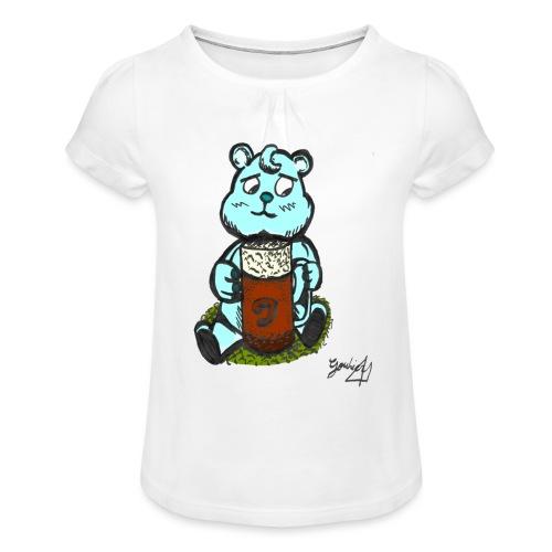 Ours Triste AngelerasCorp - T-shirt à fronces au col Fille