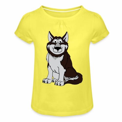 Husky - Mädchen-T-Shirt mit Raffungen