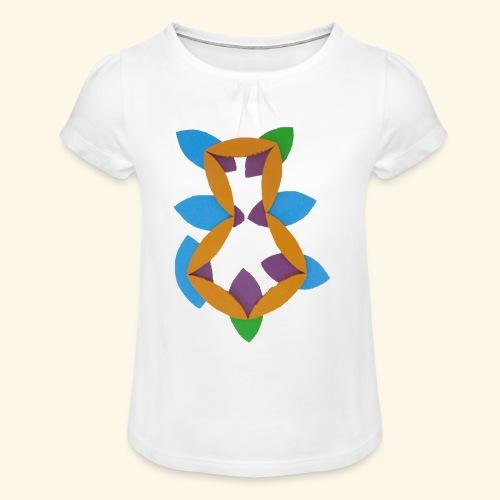 oranjeblanjebleu - Meisjes-T-shirt met plooien