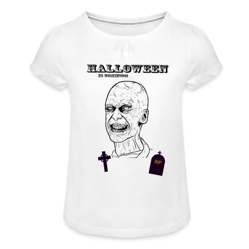 Haloween 2018 - T-shirt à fronces au col Fille