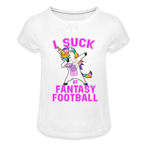 FANTASY - T-shirt med rynkning flicka