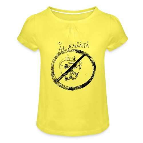 Mättää white - T-shirt med rynkning flicka