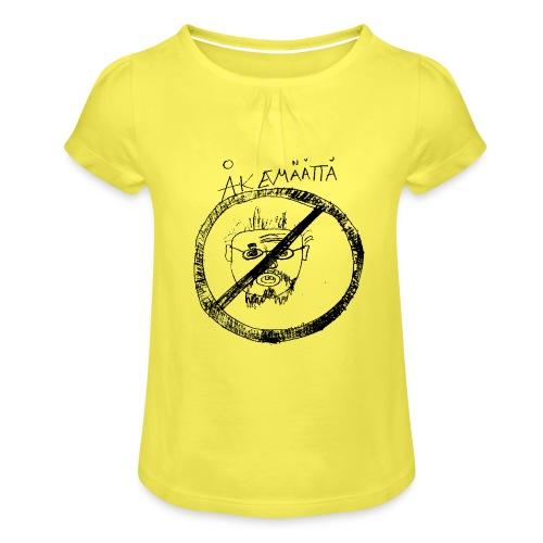 Mättää mugg - T-shirt med rynkning flicka