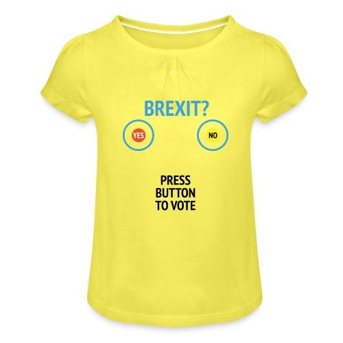Brexit: Press Button To Vote - Pige T-shirt med flæser