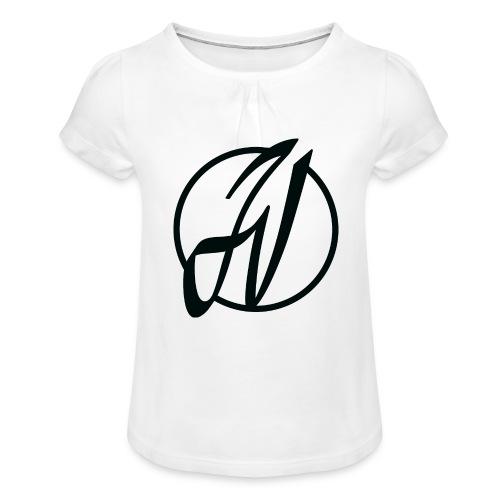 JV Guitars - logo noir - T-shirt à fronces au col Fille