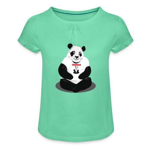 panda hd - T-shirt à fronces au col Fille